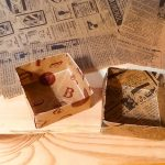 ワックスペーパー折り紙